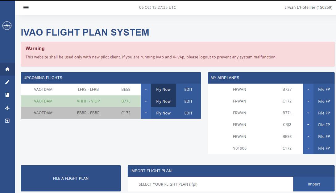 IVAO Flight Plan Tool